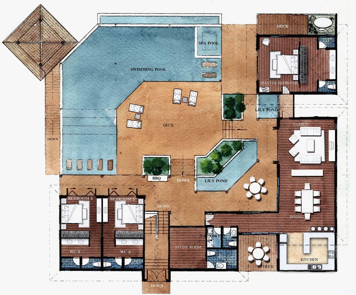 Modern Roman Villa Floor Plan Elegant Modern Roman Villa House Plans Homes Floor Plans Modern House Plans Floor Plan Design House Floor Plans