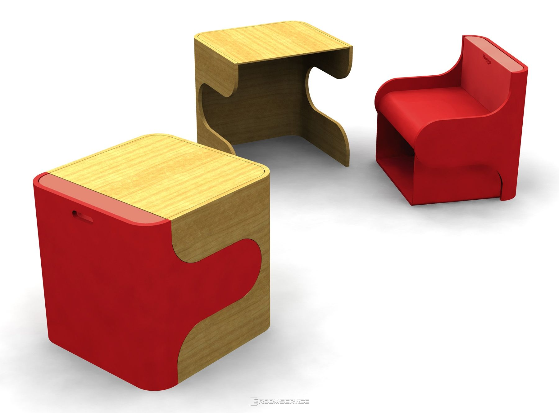 Modern And Contemporary Klick Kids Desk Chair Set By
