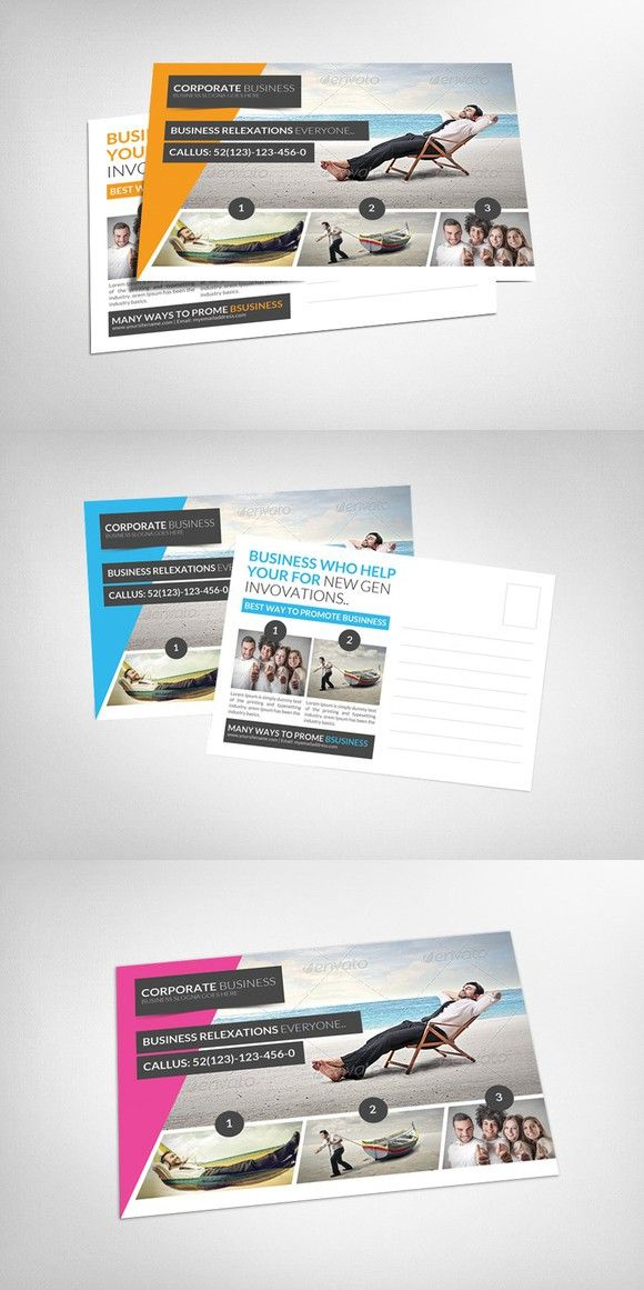 Tour Travel Business Postcard Psd. Creative Card Templates. $6.00 ...