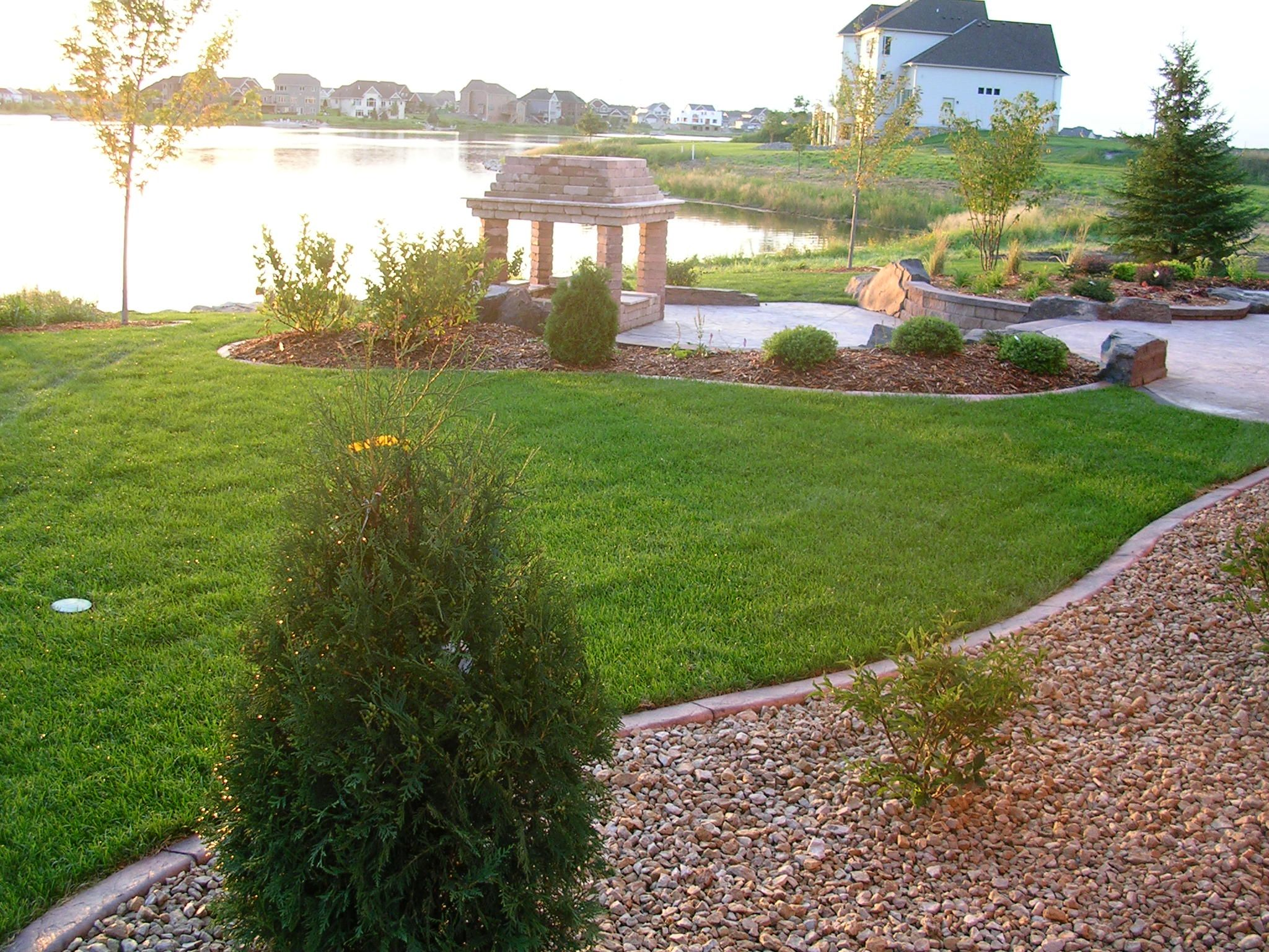 stunning lakefront landscaping