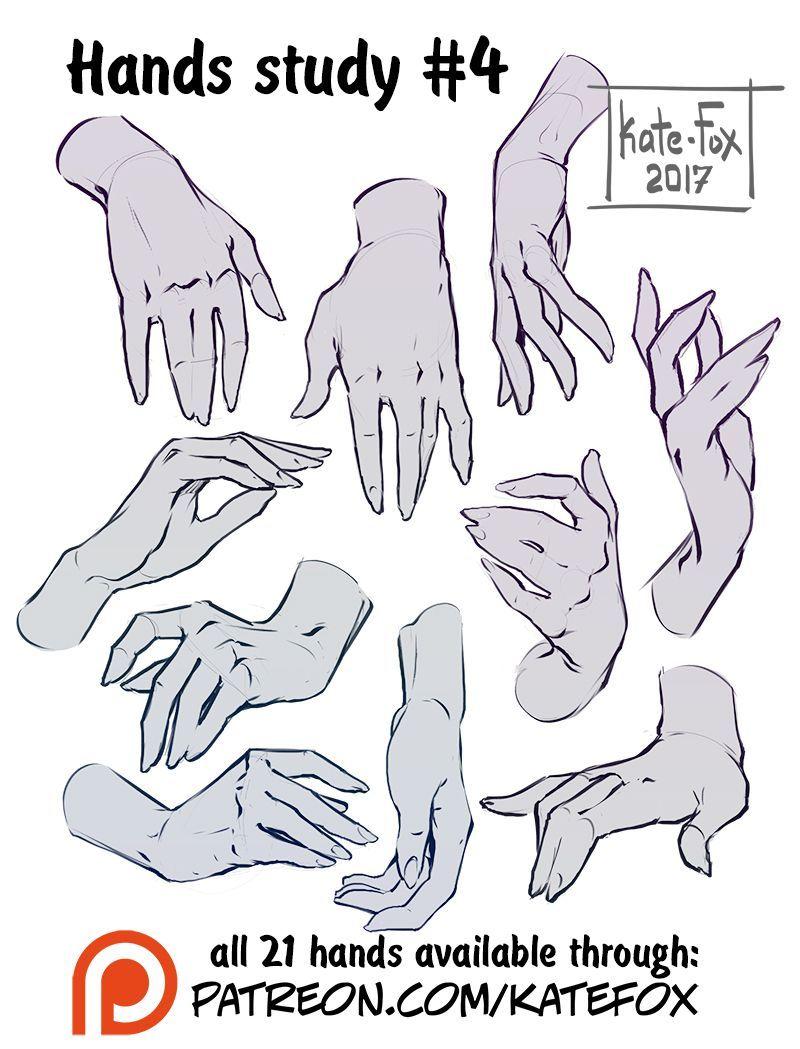 Hand study #4   Kate Fox on Patreon