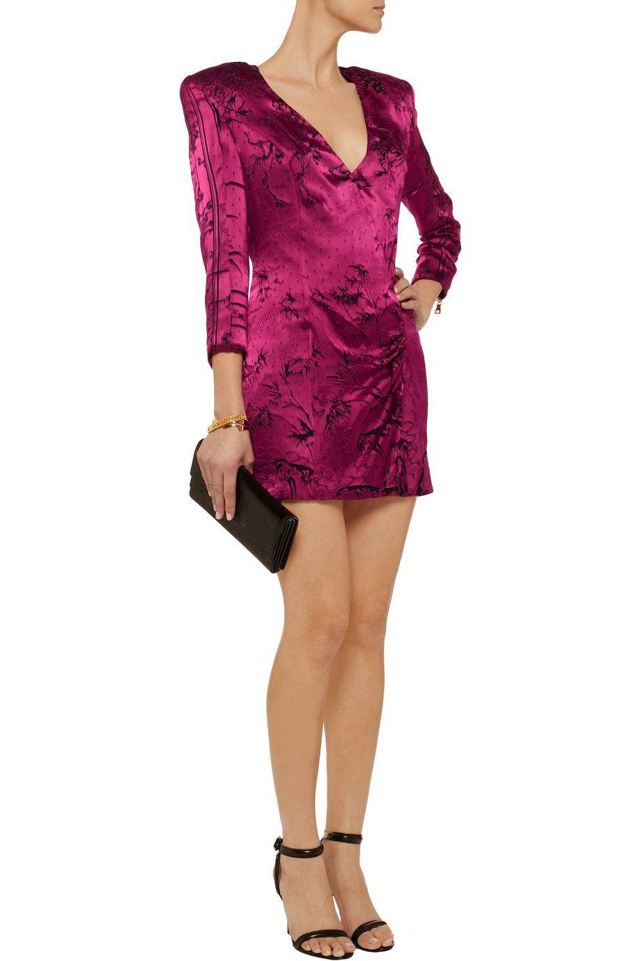 Balmainvelvetjacquard mini dressfront dress pinterest summer