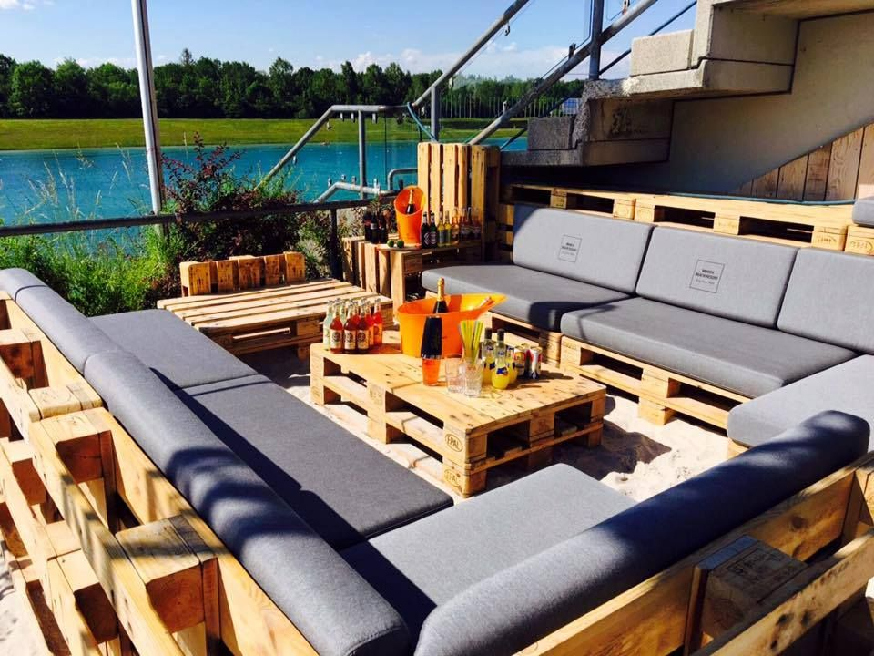 Pallet Occasional Outdoor Sofa Set 20