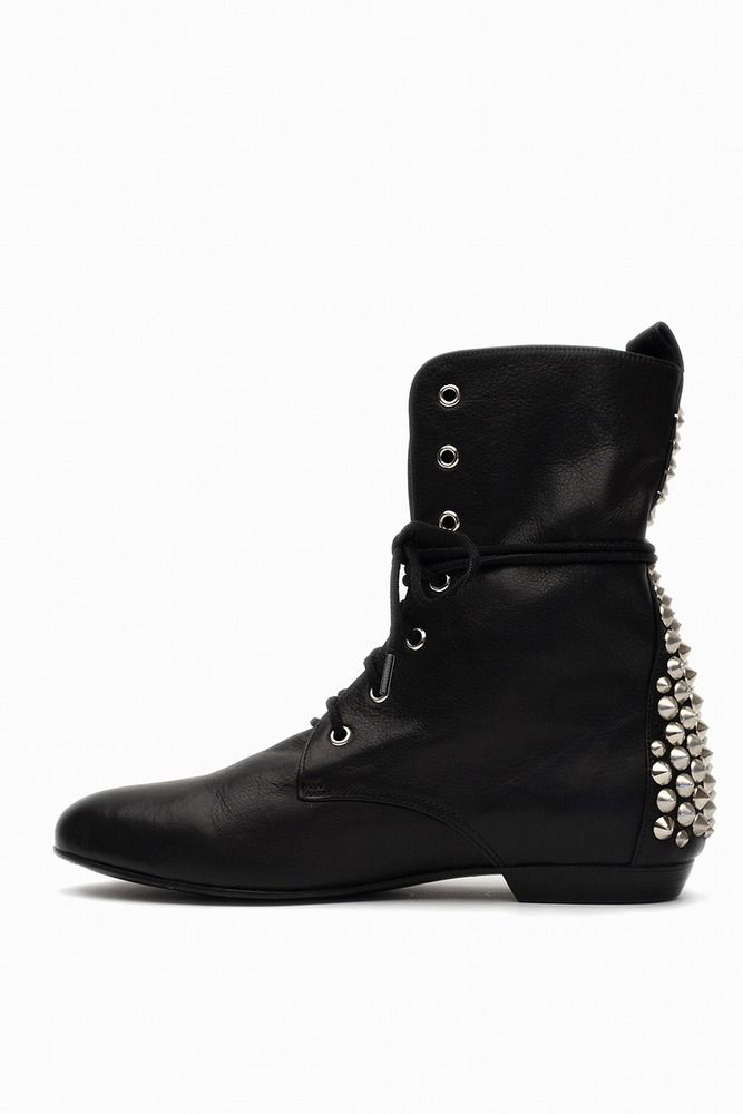 Penelope and Coco lace up stud boots