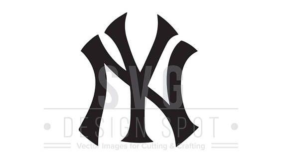 new york yankees logo svg ny yankees logo wall art yankees rh pinterest co uk new york yankees logo font