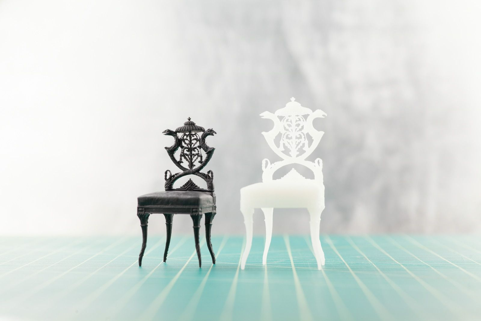 Chair designs provided by the Smithsonian Institution, printed on a Form 1+. #formlabs #3dprinting #design #chair #smithsonian