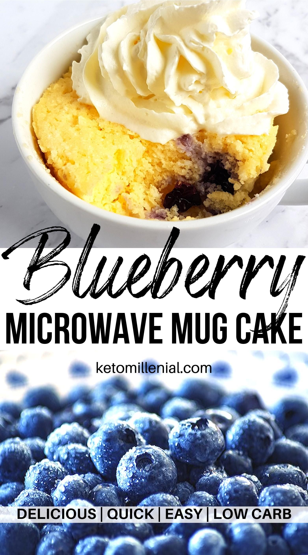 Low Carb Keto Blueberry Mug Cake | Recipe | Keto mug cake ...