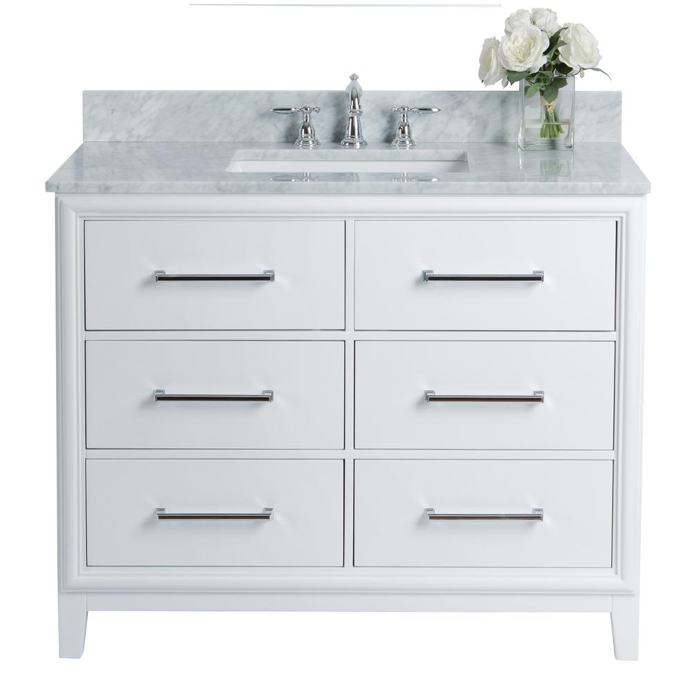 Ancerre Designs Ellie 42 In W X 22 In D Vanity In White With