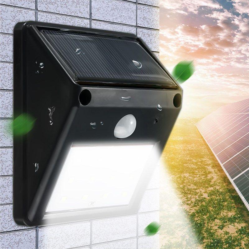 eclairage jardin led solaire 2835 SMD 12 LED LED Solaire Propulsé Lumière Éclairage Extérieur PIR Motion  Capteur Solaire Lampe Jardin Décoration Étanche Mur Lampe