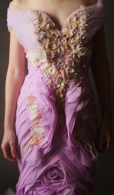 Embellished gown - reminds me of a high fashion Repunzel