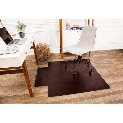 Wildon Home Low Pile And Hardwood Bamboo Office Chair Mat