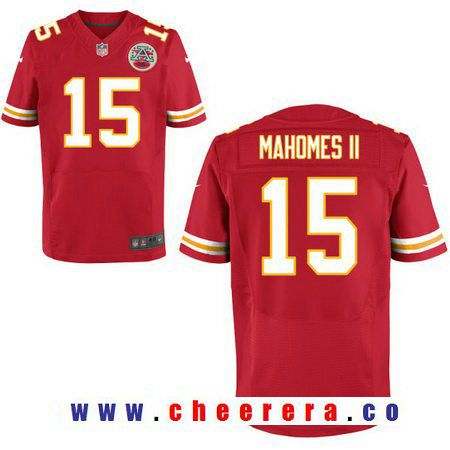 mens 2017 nfl draft kansas city chiefs 15 patrick mahomes ii red team color stitched nfl nike elite jersey