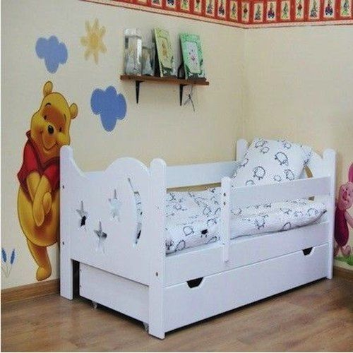 Alisha Convertible Toddler Bed With Drawer Honeybee Nursery Colour Frame White Mattress Type No