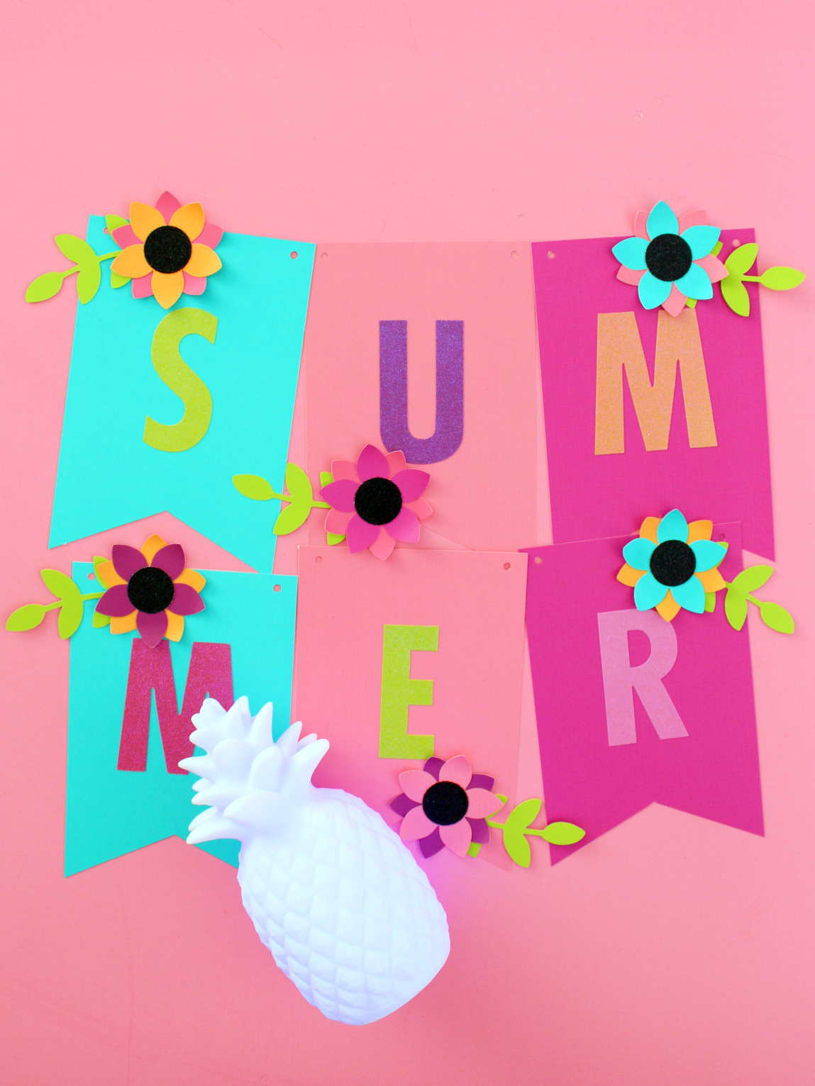 A Bright Colourful Paper Summer Garland With Images Paper Flowers Diy Paper Crafts Summer Crafts