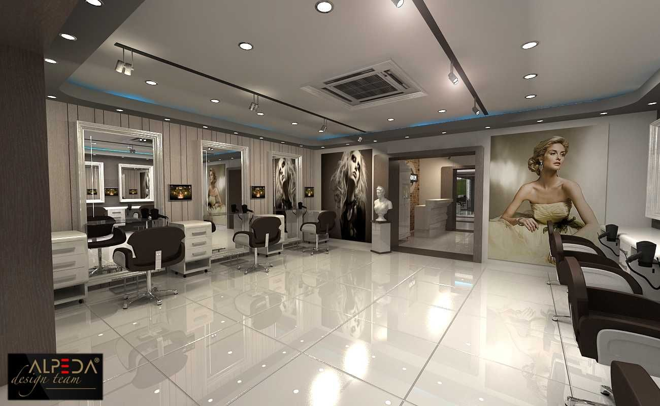 Salon decor berber salon tasarimi hair style salon - Decoration salon style romantique ...