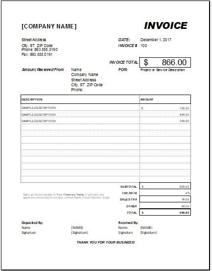Advance Payment Invoice Template Download Free At Httpwww