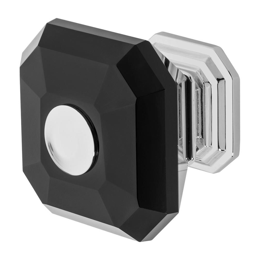 Clubhouse 1-5/16 in. Chrome with Black Crystal Cabinet Knob