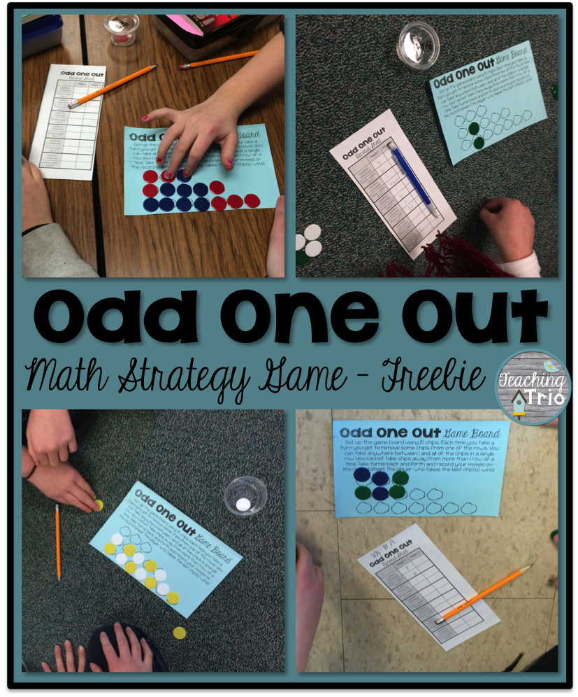 Odd One Out - A math strategy game! Free printables included ...