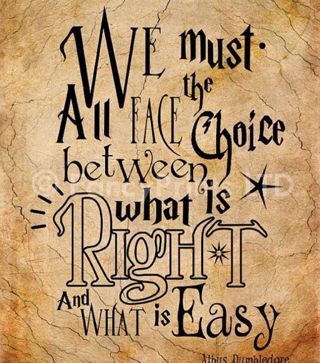 Always choose what is right