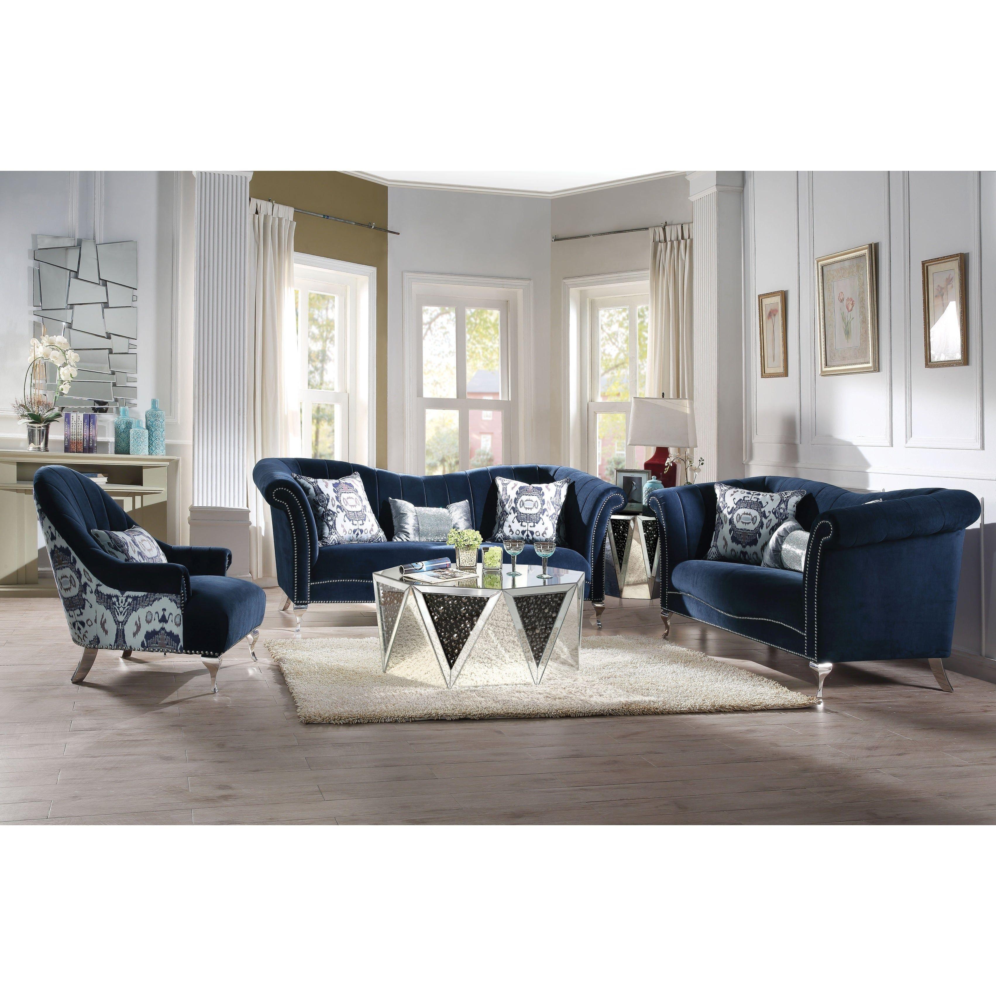 Our Best Living Room Furniture Deals Living Room Sets Living Room Sets Furniture Blue Velvet Sofa Velvet living room set