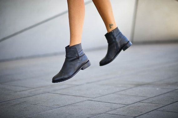 40% Sale Sienna Black Boots Ankle Boots Black Booties by abramey