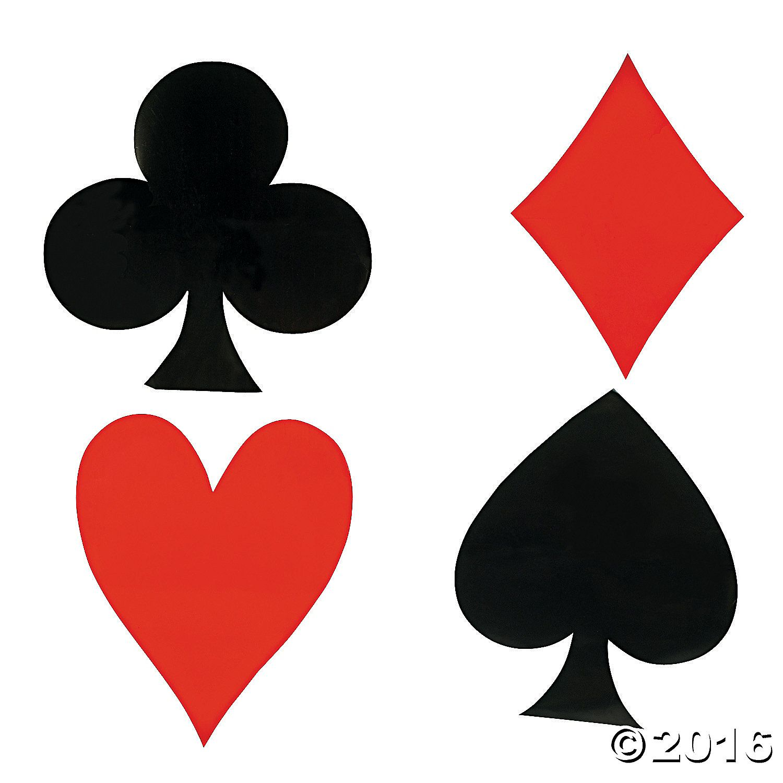 Jumbo card suit cutouts oriental trading casino theme