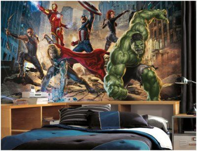 Marvel Wall Mural the avengers xl wall mural 6 x10.5 ft - wall sticker outlet, so