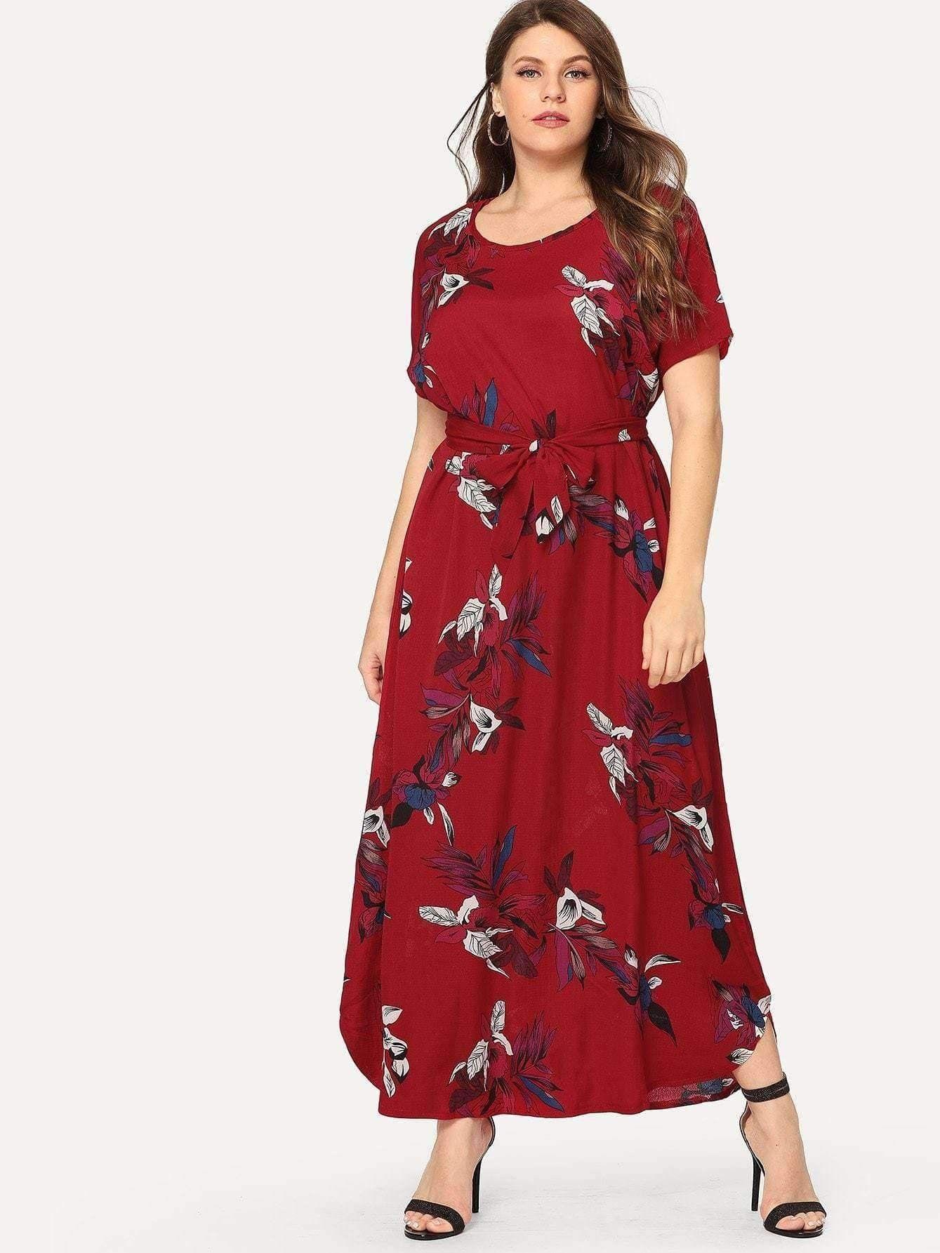 62c8e9adea2 Floral Print Dress in 2019   Plus Size Collection   Fashion, Dresses ...