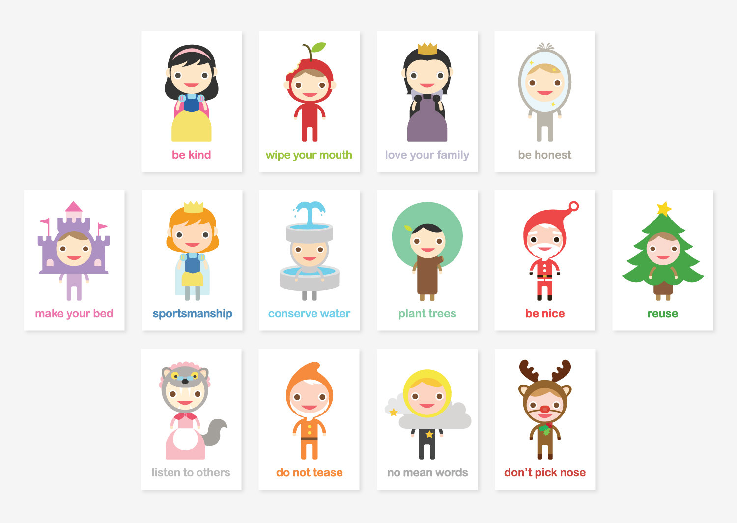 Happy Manners Card Set C Of 14