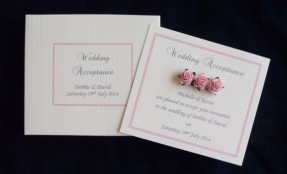 Wedding Engagement Acceptance Card Plus Matching Box Any Etsy Wedding Acceptance Card Engagement Cards Personalized Wedding