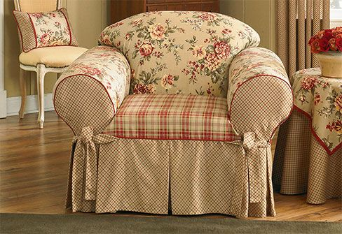 Relaxed Fit Cottage Chair Slipcover Slipcovers For Chairs Loveseat Slipcovers Slipcovers