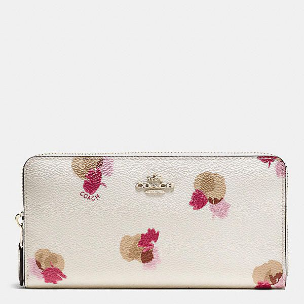 Accordion Zip Wallet in Floral Print Coated Canvas   Handbags ... 63b9274141