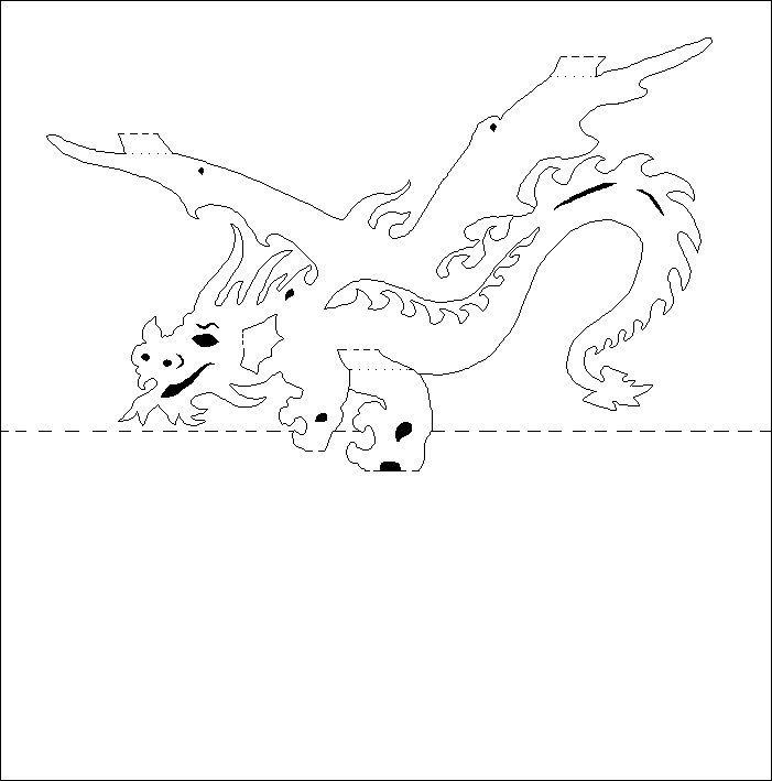 free printable kirigami patterns dragon - Yahoo Image Search Results