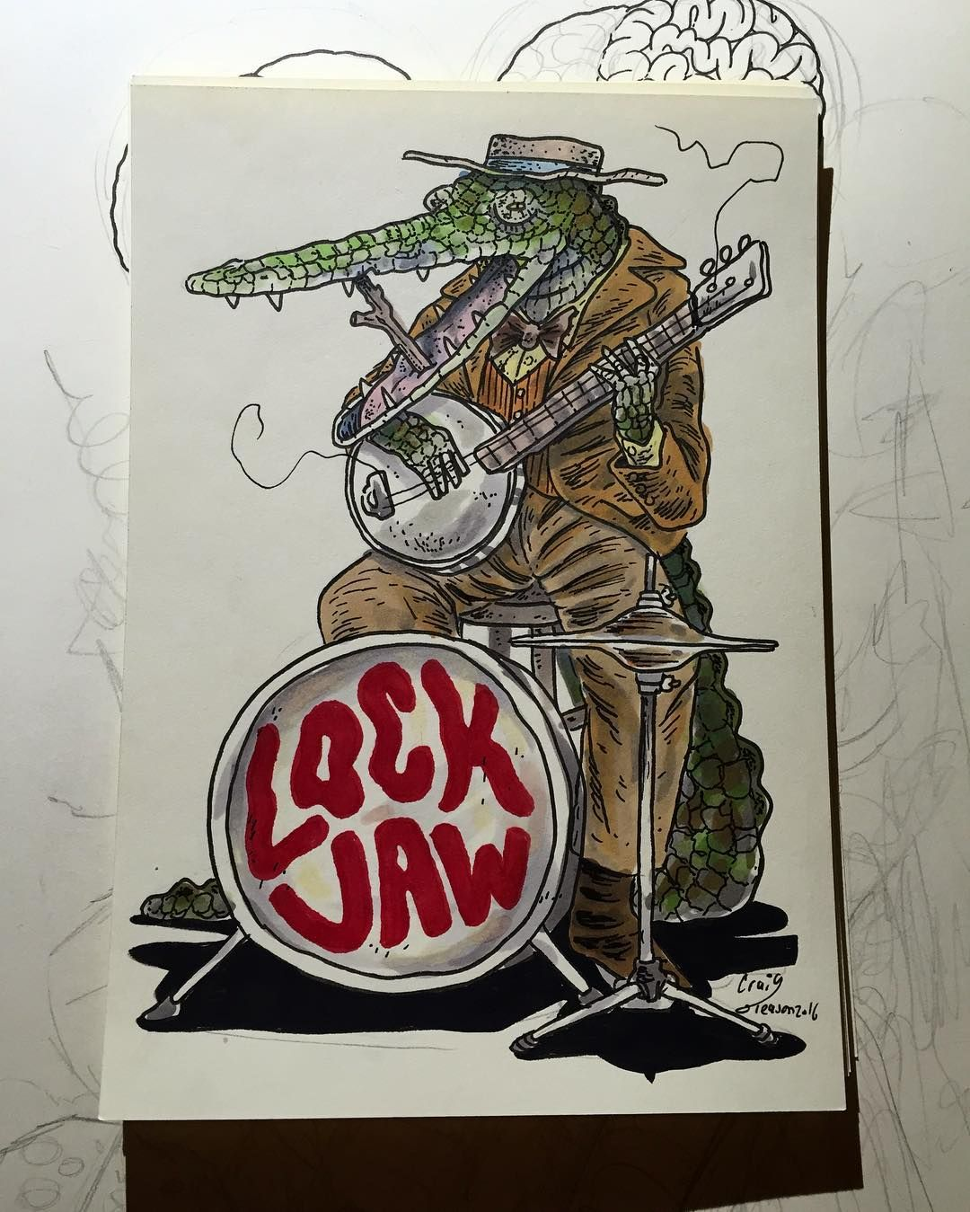 Auction lockjaw alrighty folks we have a gator singing