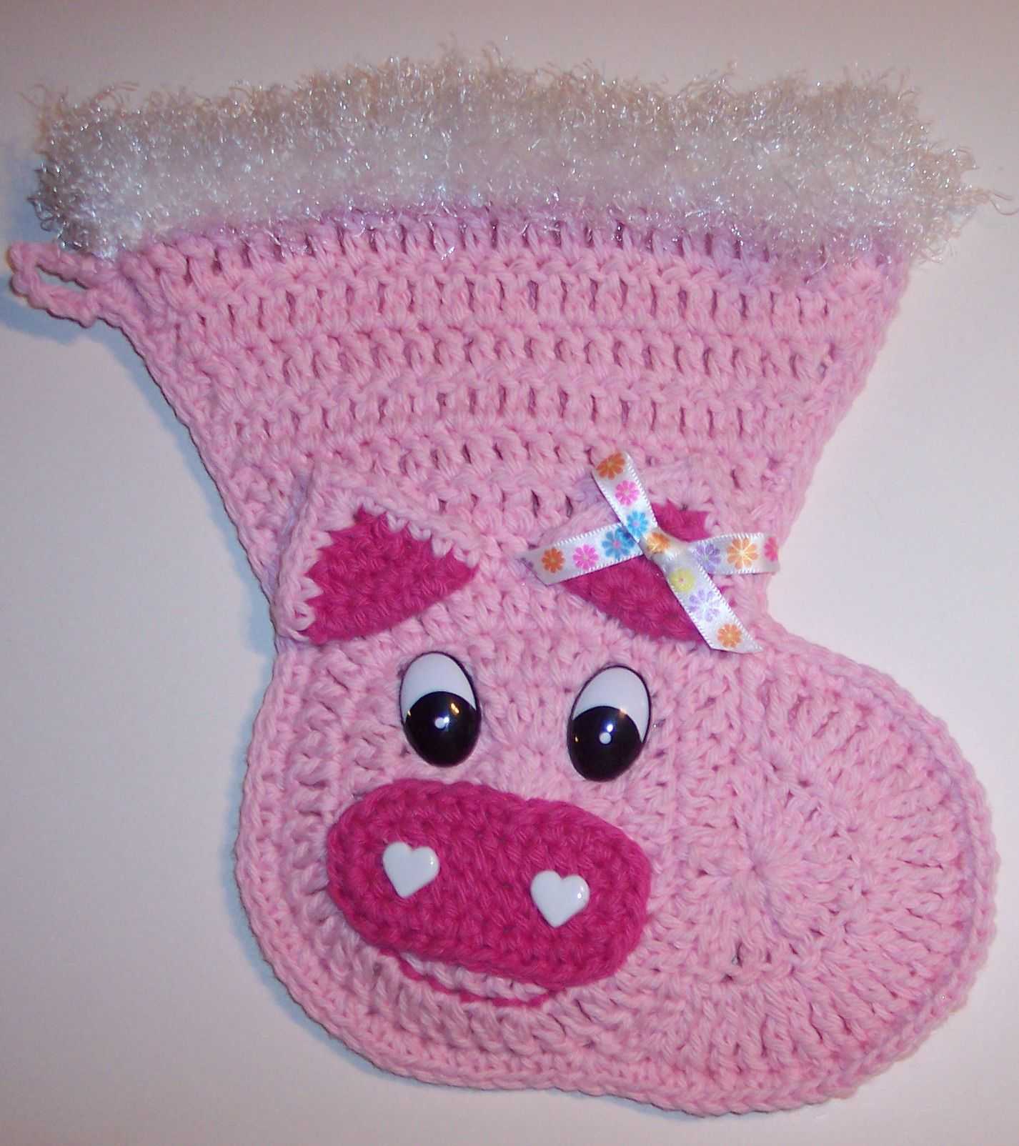 Crochet Pig Christmas Stocking | Things I\'ve Made | Pinterest