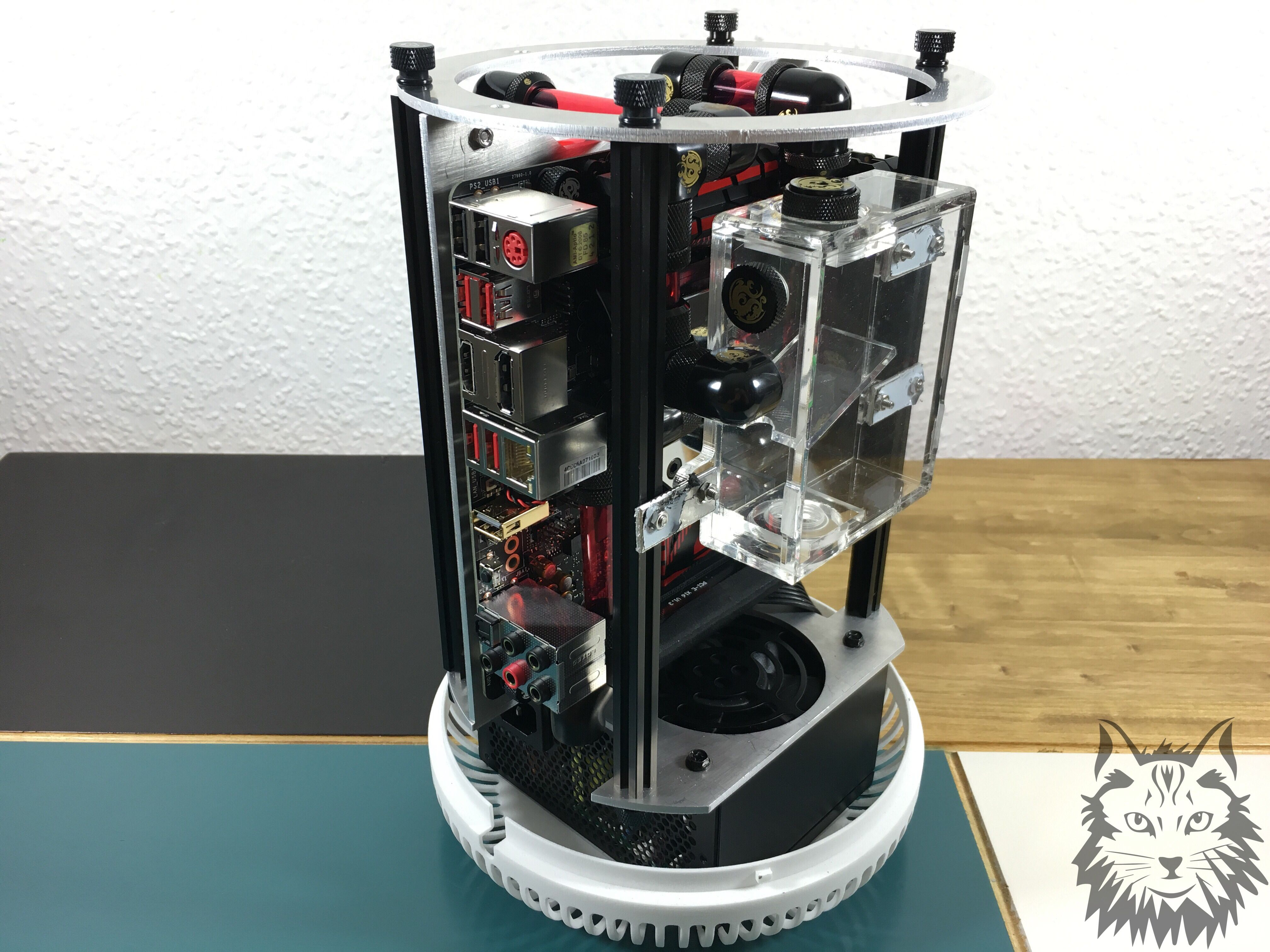Watercooled Pc In A Trash Can Makerbeam 10x10mm