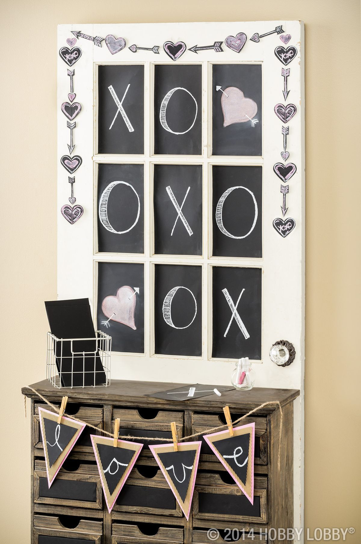 Transform An Old Window Pane Into A Valentine S Day Work
