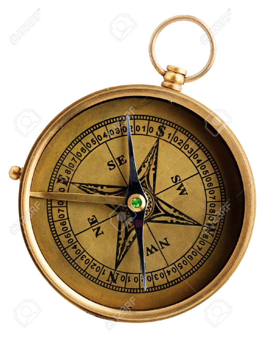 9277890-Vintage-compass-isolated-on-white-background-Stock ...
