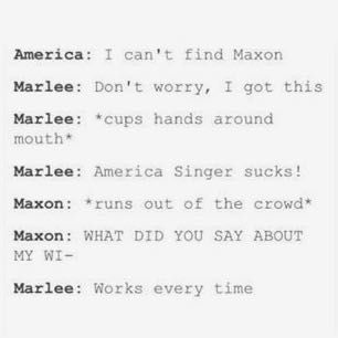 I need a man like maxon who can love me as much as he loves America and can protect.me and make me feel better and like I'm the only.person who he loves
