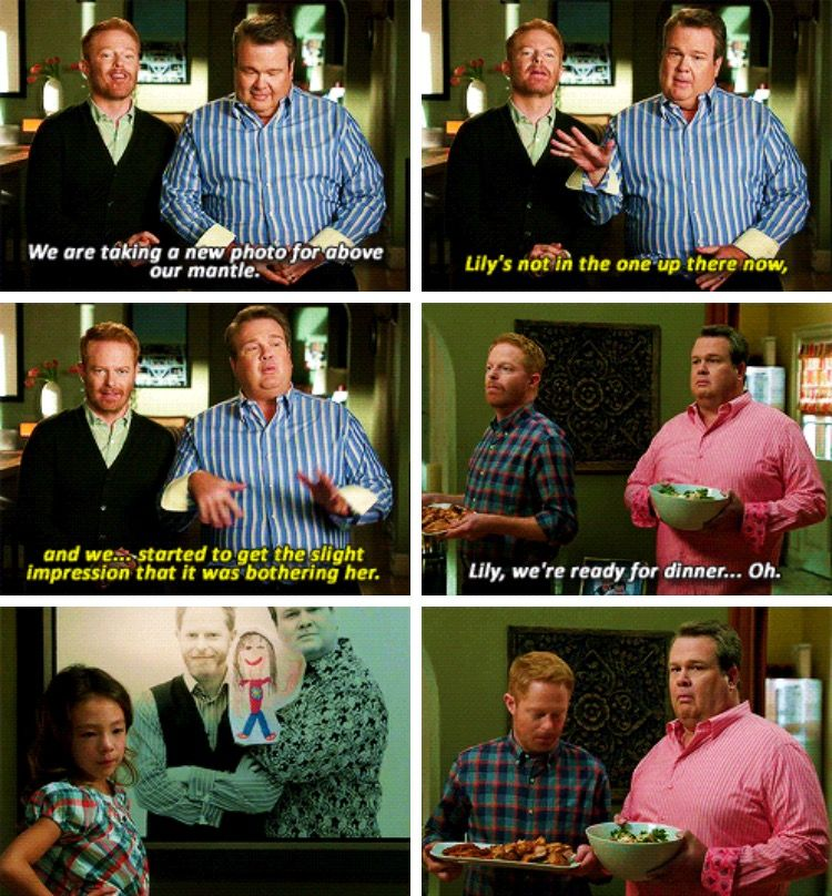 Cam And Mitch Modernfamily Modern Family Funny Modern Family Lily Modern Family Quotes
