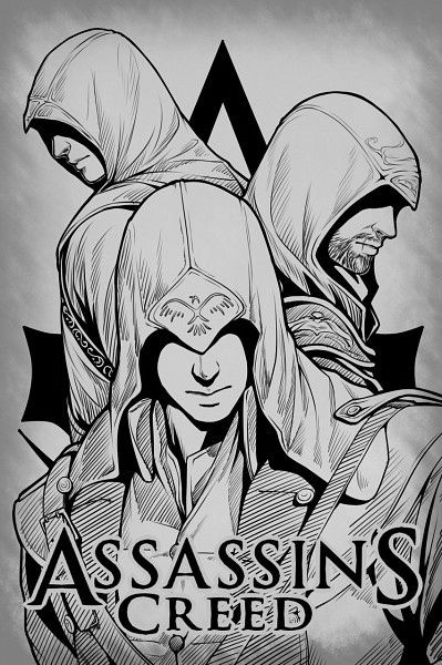 assassins creed coloring page