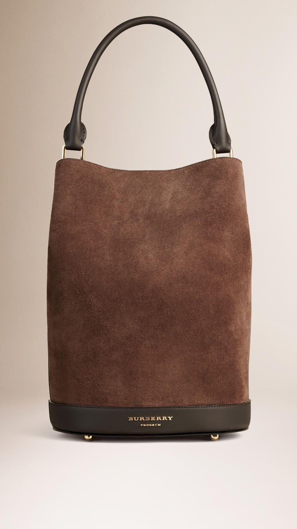 ede407288a77 The Bucket Bag in Suede Bitter Chocolate
