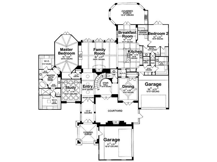 Luxury French Country House Plans plan 031h-0175 - find unique house plans, home plans and floor