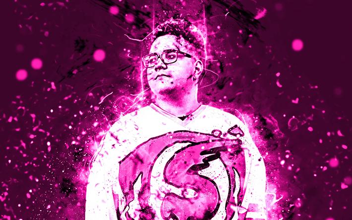 Download Wallpapers 4k Slushii Pink Neon Dj Superstars