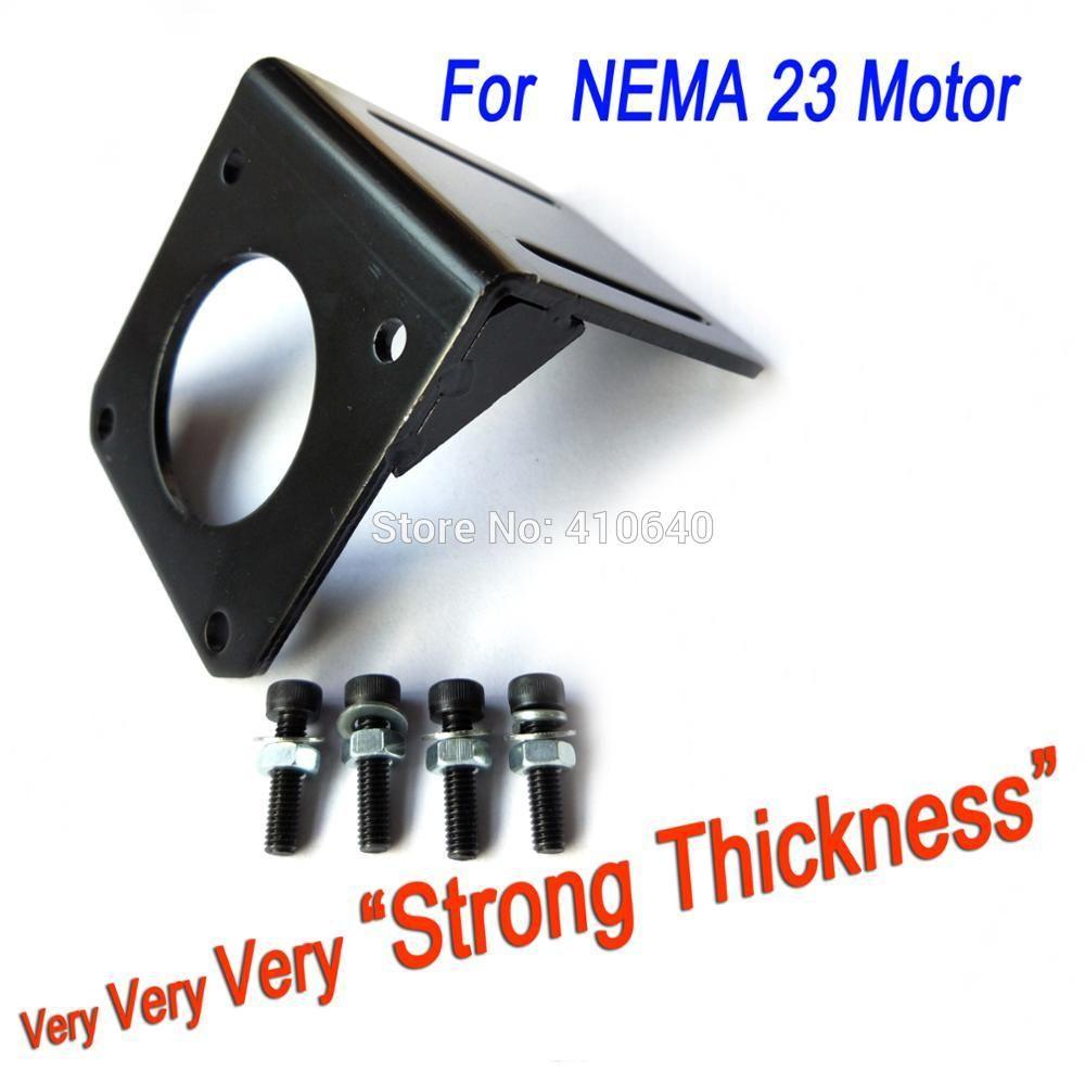 US Shipping Nema 23 Stepper Motor Mount Mounting Bracket L-mount w//screws