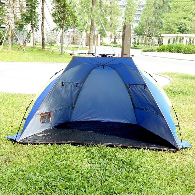 6b6eca0d0e87 SHENGYUAN Outdoor Camping Tent Water Resistant Automatic Instant Setup 3 - 4  Person Beach Fishing Tent Review