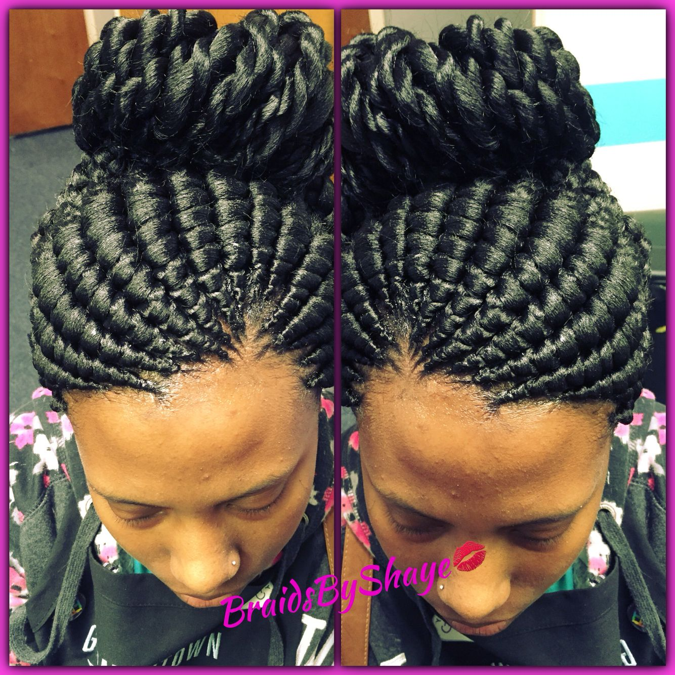 Wedding Hair Braid Styles: Ghana Bun With Twisted Ends (With Images)