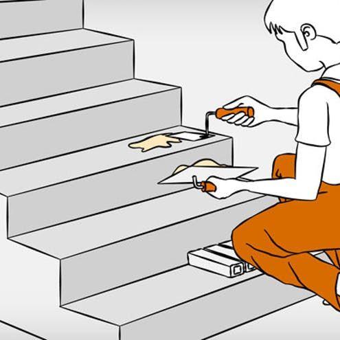 Betontreppe Verkleiden Anleitung In 4 Schritten Obi Betontreppe Treppe Treppe Renovieren