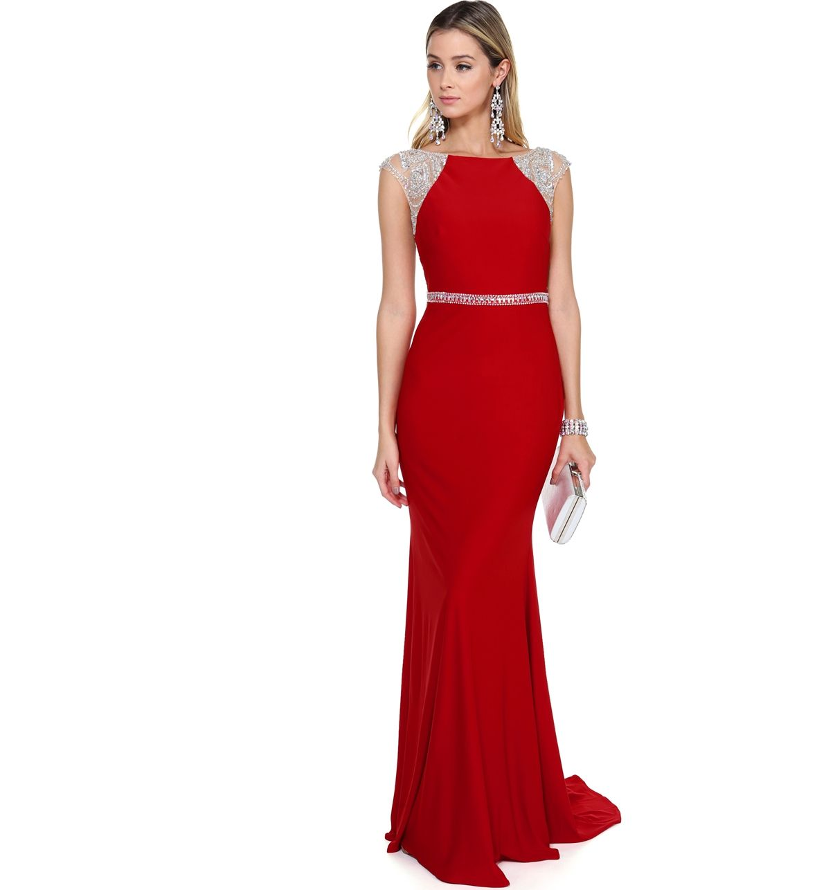 FINAL SALE- Ali Red Jeweled Prom Dress | Products, Dresses and ...