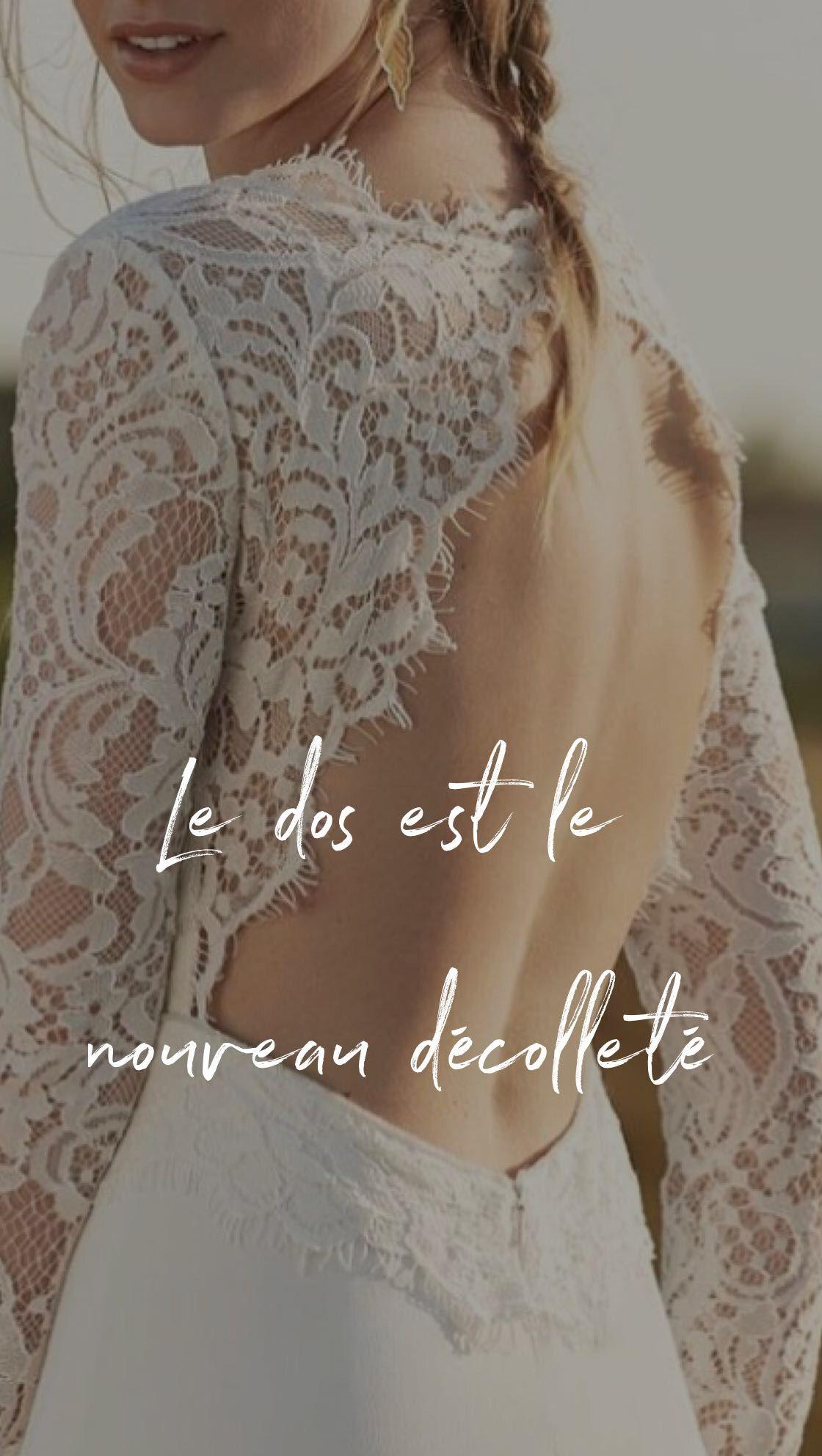 Cream colored vintage wedding dresses  Robes de mariée modernes disponible au showroom Mademoiselle A DIT